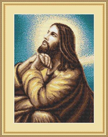 Набор для вышивания Luca-S Мольба Иисуса, 13 см х 18 смG306Набор для вышивания Мольба Иисуса,Luca-S, канва для гобелена, 10 клеток в 1см,мулине Anchor , 23 цвета , игла, ч/б схема, 13х18см Ткань разграничена на клетки по 10 пунктов, как и на схеме, что существенно облегчает работу вышивальщицы.