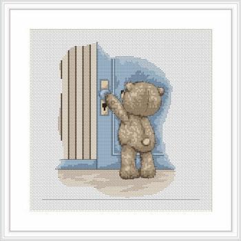 Набор для вышивания Luca-S Медвежонок Бруно Luca-S , 17,5 см х 17,5 смB1027Набор для вышивания Медвежонок Бруно , Luca-S, канва 16 Aida Zweigart, мулине Anchor 10 цветов , игла, ч/б схема, счетный крест, 17,50x17,50 см