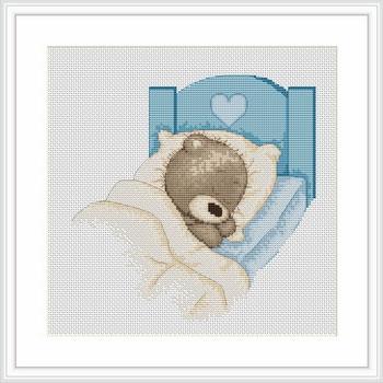 Набор для вышивания Luca-S Медвежонок Бруно Luca-S , 17 см х 17 смB1024Набор для вышивания Медвежонок Бруно , Luca-S, канва 1 6 Aida Zweigart, мулине Anchor 15 цветов , игла, ч/б схема, счетный крест, 17,00x17,00 см