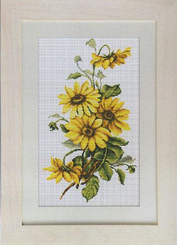 Набор для вышивания Luca-S Желтые цветы Luca-S , 17,5 см х 30,5 смBM3003Набор для вышивания Желтые цветы , Luca-S, канва 18/100 Aida Zweigart, мулине Madeira 20 цветов , игла, ч/б схема, счетный крест, 17,5 х 30,5 см