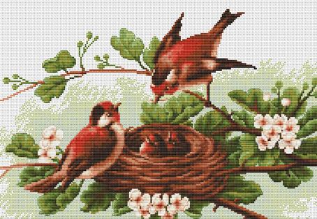 Набор для вышивания крестом Luca-S Птички, 30,5 х 19 смBM3005Набор для вышивания крестом Luca-S Птички поможет создать красивую вышитую картину. Рисунок-вышивка, выполненный на канве, выглядит стильно и модно. Вышивание отвлечет вас от повседневных забот и превратится в увлекательное занятие! Работа, сделанная своими руками, не только украсит интерьер дома, придав ему уют и оригинальность, но и будет отличным подарком для друзей и близких! Набор содержит все необходимые материалы для вышивки на канве в технике счетный крест. В набор входит: - канва Aida Zweigart №18 (белого цвета), - мулине Anchor - 100% мерсеризованный хлопок (26 цветов), - черно-белая символьная схема, - инструкция на русском языке, - игла. Размер готовой работы: 30,5 х 19 см. Размер канвы: 39,8 х 30,1 см.