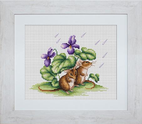 Набор для вышивания Luca-S Мышки, 17,5 см х 14 смB1041Набор для вышивания Мышки,Luca-S, канва 14/100 Aida Zweigart, мулине Anchor 26 цветов, игла, ч/б схема, 17,5 х 14,0 см