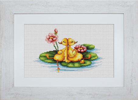 Набор для вышивания Luca-S Утята, 20,5 см х 12,5 смB1042Набор для вышивания Утята,Luca-S, канва 14/100 Aida Zweigart, мулине Anchor 26 цветов, игла, ч/б схема, 20,5 х 12,5 см