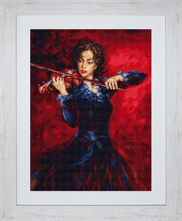 Набор для вышивания Luca-S Музыка, 31 см х 42,5 смB533Набор для вышивания Музыка,Luca-S, канва 18/100 Aida Zweigart, мулине Anchor 44 цвета, игла, ч/б схема, 31 х 42,5 см