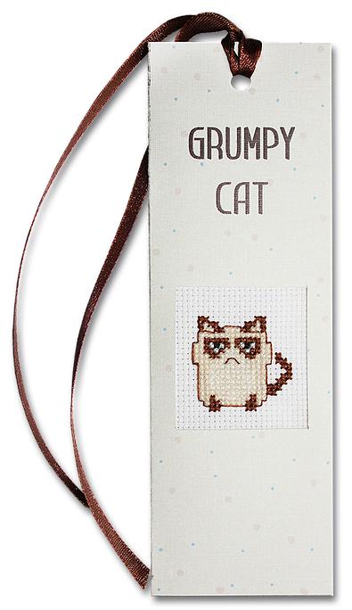 Набор для изготовления закладки с вышитым элементом Luca-S Grumpy cat, 5,5 см х 15 смN30Набор для изготовления закладки с вышитым элементом Grumpy cat, 5,5 х 15 см Цветной картон: 10 х 15 cм. Канва Аида 18 Zweigart белого цвета 6 x 7 cм. Мулине Anchor: 5 цветов по 0,5 метра. Двойной скотч: 5 x 8 cм. Объёмный двойной скотч: 2,5 x 2,5 cм Иголка: 1шт. Схема и инструкция на русском языке.