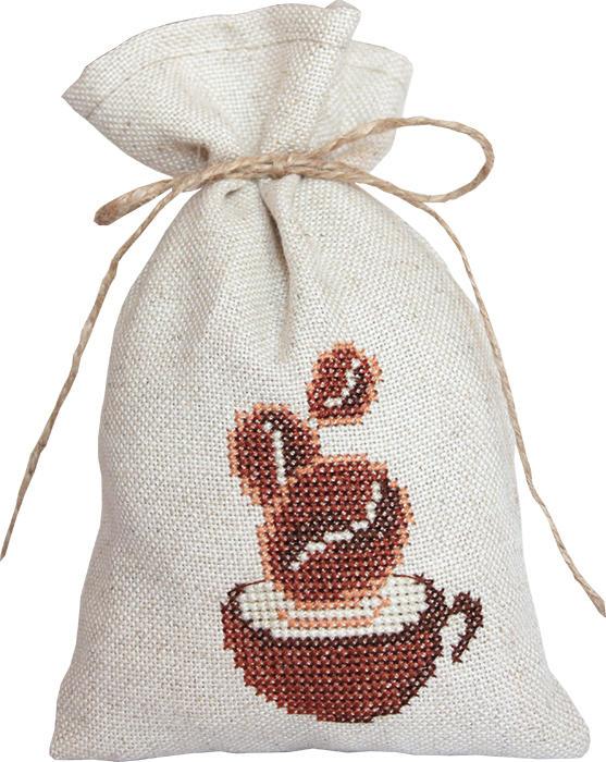 Набор для вышивания крестом Luca-S Мешочек для саше. Чашка кофе, 20 х 12 смPM1218Набор для вышивания крестом Luca-S Чашка кофе поможет создать своими руками красивый мешочек для саше с рисунком-вышивкой. Саше - это маленькие мешочки или подушечки из ткани, наполненные лепестками цветов, душистыми травами, веточками, пряностями, иногда с добавлением капельки ароматного масла. В прежние времена саше были очень популярны и обязательно были в доме у каждой уважающей себя хозяйки. Саше - это один из самых простых способов заставить окружающие нас вещи приятно пахнуть. Вышивание отвлечет вас от повседневных забот и превратится в увлекательное занятие! Работа, сделанная своими руками, будет отличным подарком для друзей и близких! Набор содержит все необходимые материалы для вышивки на канве в технике счетный крест. В набор входит: - канва Fein-Floba - 70% вискоза, 30% лен (цвет льна), - мулине Anchor - 100% хлопок (4 цвета), - цветная схема, - инструкция на русском языке, - шнурок для...