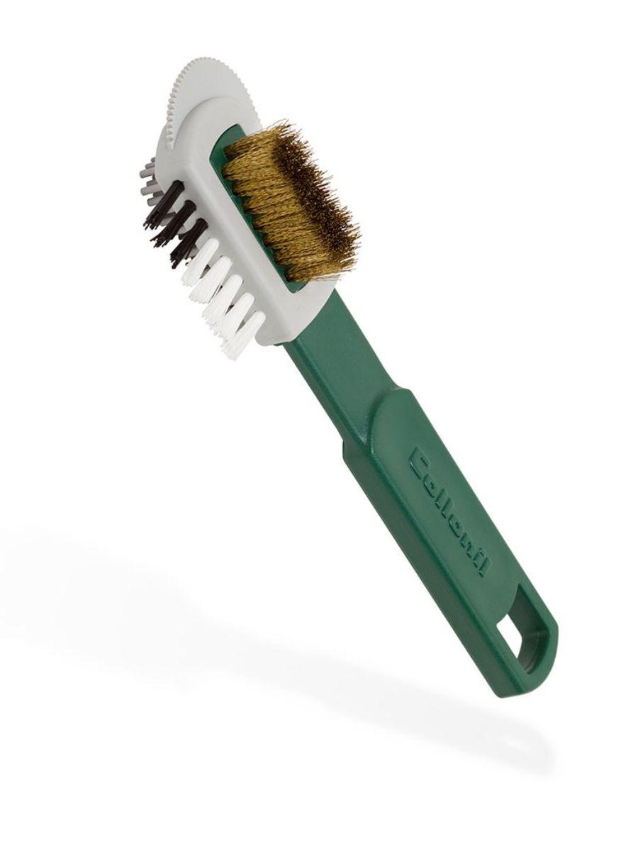 Щетка для замши Collonil Combi Burste, с железным ворсом, цвет: белый7000 000Щетка для чистки нубука и расчесывания замши.