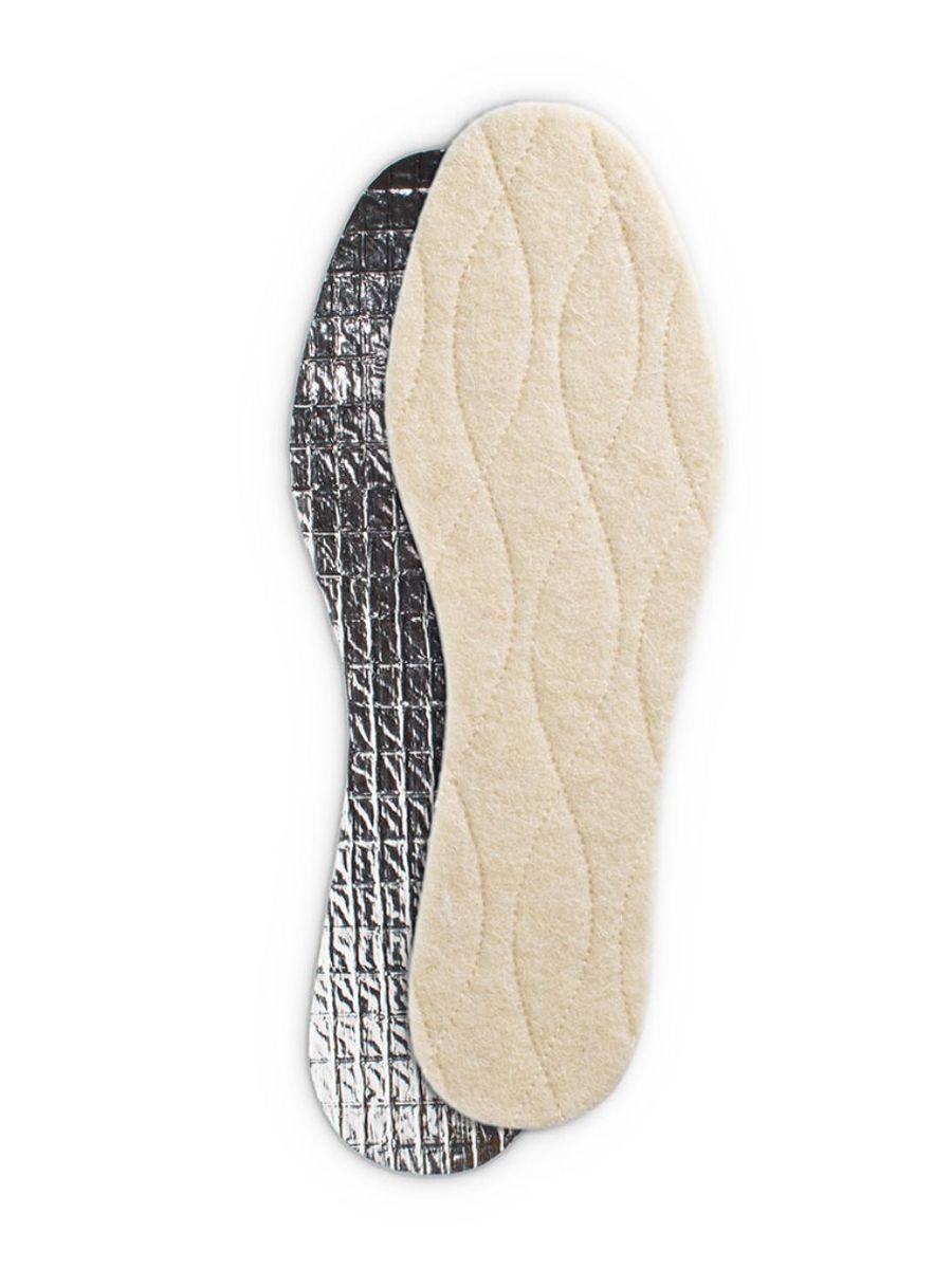 Стелька зимняя Collonil Thermo, трехслойная с фольгой. Размер 32-339101 323Стелька зимняя, трехслойная: 1.шерсть (согревает), 2.термоизоляция (сохраняет тепло), 3.фольга (защита от холода и влаги)