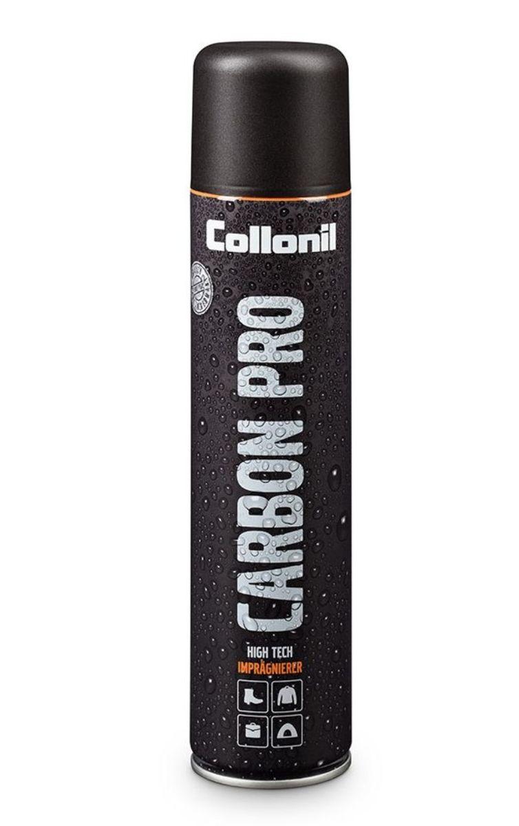 Спрей влаго- и грязеотталкивающий для обуви Collonil Carbon Pro, 400 мл1704 000Высокоэффективный влаго- и грязеотталкивающий спрей, разработанный блягодаря technology. Защита, действующая по принципу распыляемая мембрана. Препятствует появлению солевых разводов и предохраняет материал от выгорания. Инновационное средство подходит для всех типов материалов. Рекомендуется для защиты High - tech материалов, в т.ч. с мембранами Gore Tex, Sympatex и др.
