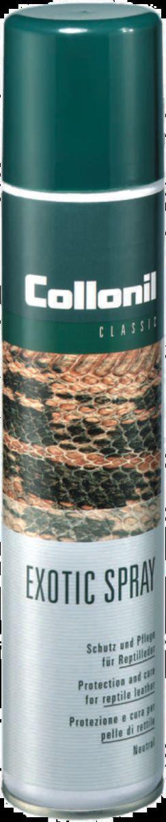 Спрей для экзотической кожи Collonil Exotic Spray, 200 мл1922 000Специальная защита и уход за кожей пресмыкающихся (крокодил, питон), страуса, а также за кожей в экзотическом стиле.