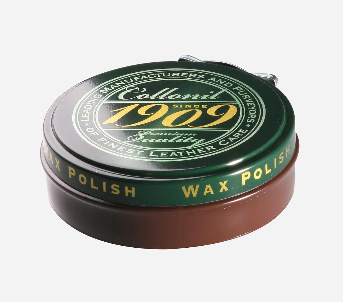 Крем для обуви Collonil 1909 Wax Polish, цвет: темно-коричневый, 75 мл6063 389Крем для гладкой кожи с зеркальным блеском, промасленного нубука, навощенной и сохраненной в натуральном виде гладкой кожи. Защищает и ухаживает, придает водо- и грязеотталкивающие свойства. Щадит материал и сохраняет его свойства.