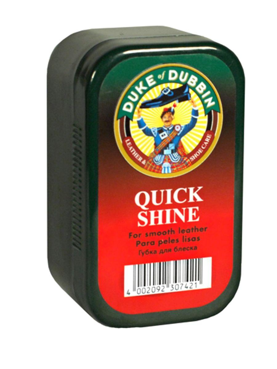 Губка для блеска Duke of Dubbin Duke Quick Shine7420 000Губка в пластиковой коробочке, пропитанная специальной эмульсией для ухода и придания мгновенного блеска. Подходит для обуви из всех видов гладкой кожи.