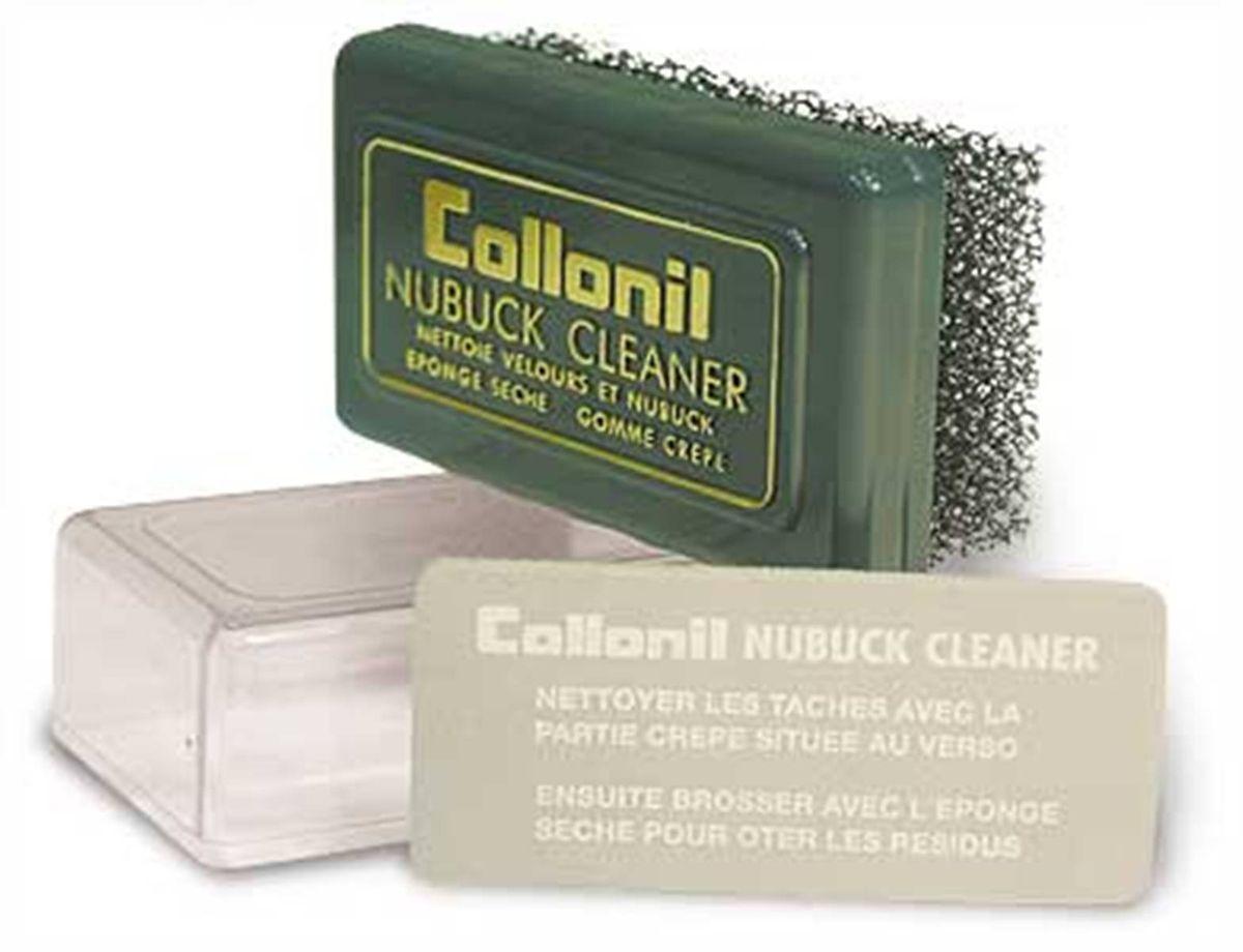 Губка для замши, велюра, нубука Collonil Nubuk Cleaner7480 000Специальная пористая губка, особенно удобная для чистки больших изделий из замши, велюра и нубука. В комплект входит ластик для более тщательного устранения загрязнений. Способ применения: Очистить пятна и иные загрязнения при помощи щетки, взъерошить ворс.