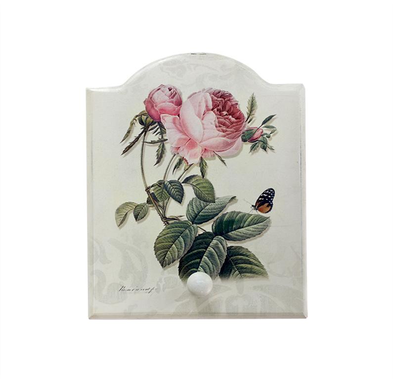 Крючок Miolla Роза, цвет: белый, 19,5 х 15,5 см7708-11