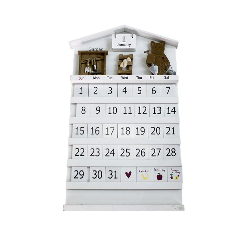 Календарь Miolla Домик, цвет: белый, 52,5 х 30 см7708-3