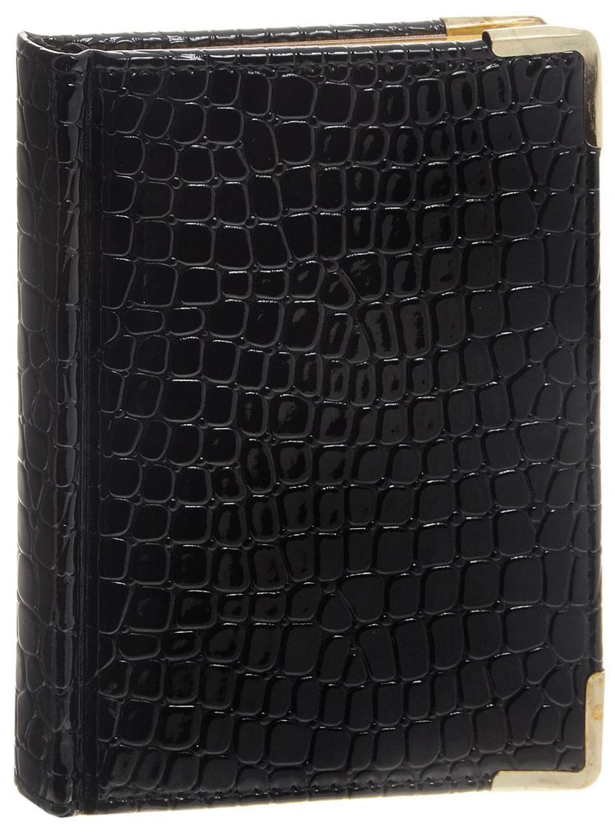 Listoff Записная книжка Iguana 96 листов в клетку цвет черныйКЗК6961666Записная книжка Listoff Iguana прекрасно подходит в качестве подарка. Обложка выполнена из высококачественной искусственной кожи с наполнителем из поролона, что придает книжке опрятный и строгий внешний вид. Внутренний блок прошит, что гарантирует отсутствие потери листов. Металлические закругленные углы защищают записную книжку при активном использовании. Книжка содержит 96 листов в клетку формата А6. Книжка имеет ляссе и трехсторонний позолоченный обрез. Записная книжка Listoff Iguana станет достойным аксессуаром среди ваших канцелярских принадлежностей. Она пригодится как для деловых людей, так и для любителей записывать свои мысли, писать мемуары или делать наброски новых стихотворений.