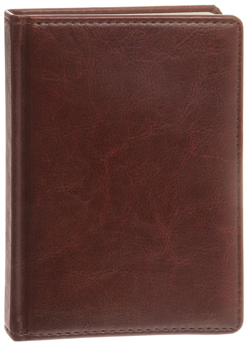 Listoff Записная книжка 96 листов в клетку цвет темно-коричневый КЗК69633