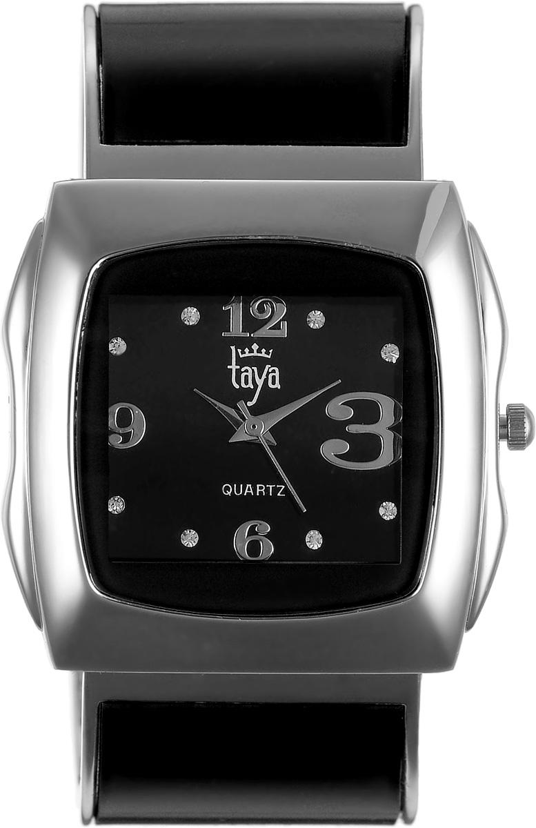Часы наручные женские Taya, цвет: серебряный, черный. T-W-0440T-W-0440-WATCH-SL.BLACKЭлегантные женские часы Taya выполнены из металлического сплава, минерального стекла и нержавеющей стали. Циферблат часов инкрустирован стразами и оформлен символикой бренда. Корпус часов оснащен кварцевым механизмом со сменным элементом питания и дополнен раздвижным браслетом с пружинным механизмом, который позволяет надеть часы на любую руку. Часы поставляются в фирменной упаковке. Часы Taya подчеркнут изящность женской руки и отменное чувство стиля у их обладательницы.