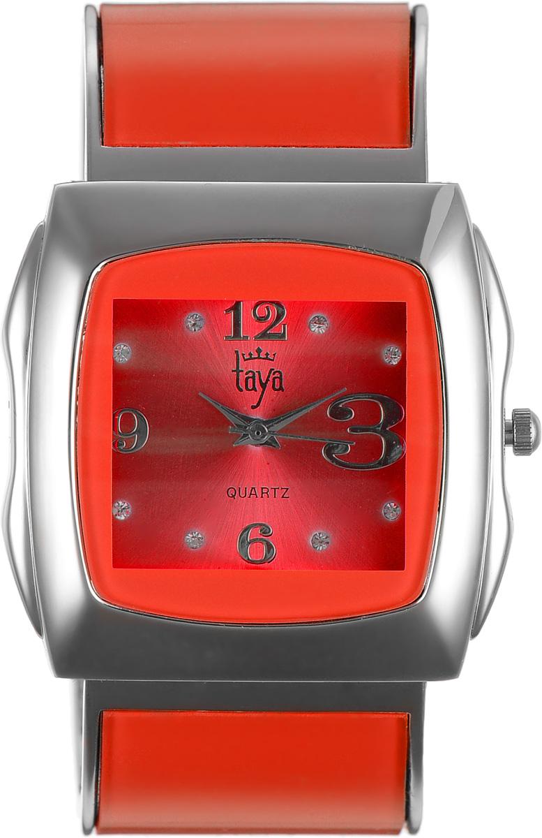 Часы наручные женские Taya, цвет: серебряный, красный. T-W-0441T-W-0441-WATCH-SL.REDЭлегантные женские часы Taya выполнены из металлического сплава, минерального стекла и нержавеющей стали. Циферблат часов инкрустирован стразами и оформлен символикой бренда. Корпус часов оснащен кварцевым механизмом со сменным элементом питания и дополнен раздвижным браслетом с пружинным механизмом, который позволяет надеть часы на любую руку. Часы поставляются в фирменной упаковке. Часы Taya подчеркнут изящность женской руки и отменное чувство стиля у их обладательницы.
