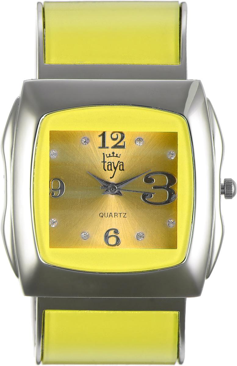 Часы наручные женские Taya, цвет: серебряный, желтый. T-W-0437T-W-0437-WATCH-SL.YELLOWЭлегантные женские часы Taya выполнены из металлического сплава, минерального стекла и нержавеющей стали. Циферблат часов инкрустирован стразами и оформлен символикой бренда. Корпус часов оснащен кварцевым механизмом со сменным элементом питания и дополнен раздвижным браслетом с пружинным механизмом, который позволяет надеть часы на любую руку. Часы поставляются в фирменной упаковке. Часы Taya подчеркнут изящность женской руки и отменное чувство стиля у их обладательницы.