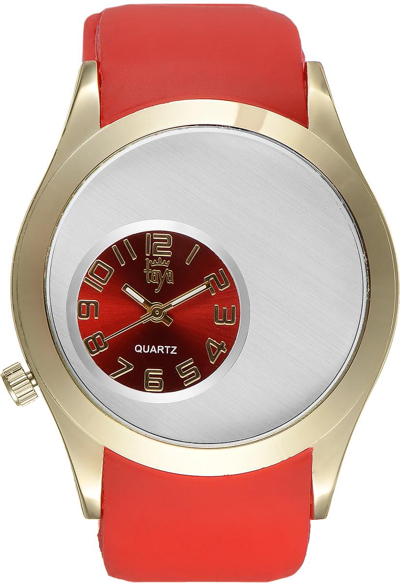 Часы наручные женские Taya, цвет: золотой, красный. T-W-0235T-W-0235-WATCH-GL.REDЭлегантные женские часы Taya выполнены из минерального стекла, силикона и нержавеющей стали. Уменьшенный циферблат часов оформлен символикой бренда. Корпус часов оснащен кварцевым механизмом со сменным элементом питания и дополнен силиконовым ремешком с внутренним тиснением, благодаря которому часы плотно прилегают к запястью. Ремешок застегивается на практичную пряжку. Часы поставляются в фирменной упаковке. Часы Taya подчеркнут изящность женской руки и отменное чувство стиля у их обладательницы.