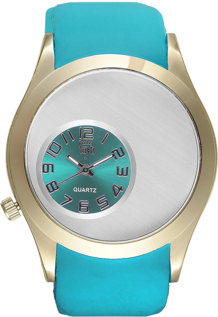 Часы наручные женские Taya, цвет: золотой, бирюзовый. T-W-0234T-W-0234-WATCH-GL.GREENЭлегантные женские часы Taya выполнены из минерального стекла, силикона и нержавеющей стали. Уменьшенный циферблат часов оформлен символикой бренда. Корпус часов оснащен кварцевым механизмом со сменным элементом питания и дополнен силиконовым ремешком с внутренним тиснением, благодаря которому часы плотно прилегают к запястью. Ремешок застегивается на практичную пряжку. Часы поставляются в фирменной упаковке. Часы Taya подчеркнут изящность женской руки и отменное чувство стиля у их обладательницы.