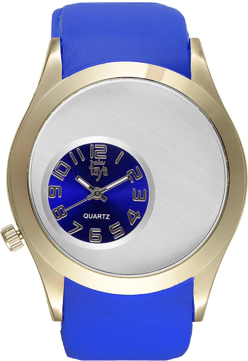 Часы наручные женские Taya, цвет: золотой, синий. T-W-0236T-W-0236-WATCH-GL.D.BLUEЭлегантные женские часы Taya выполнены из минерального стекла, силикона и нержавеющей стали. Уменьшенный циферблат часов оформлен символикой бренда. Корпус часов оснащен кварцевым механизмом со сменным элементом питания и дополнен силиконовым ремешком с внутренним тиснением, благодаря которому часы плотно прилегают к запястью. Ремешок застегивается на практичную пряжку. Часы поставляются в фирменной упаковке. Часы Taya подчеркнут изящность женской руки и отменное чувство стиля у их обладательницы.