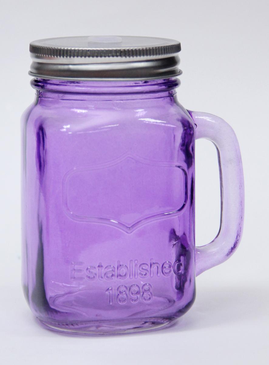 Емкость для напитков Magic Home, цвет: синий, 460 мл. 4118441184Оригинальная емкость для напитков в виде банки с ручкой, обязательно дополнит любой современный и классический интерьер. Благодаря крышке, содержимое не прольется, и дольше сохранится в емкости. Не рекомендуется мыть в посудомоечных машинах и с использованием образивных средств.