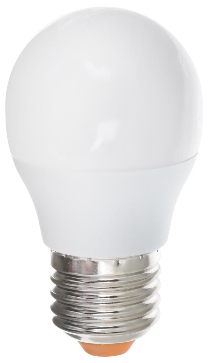 Светодиодная лампа Kosmos, теплый свет, цоколь E27, 7W, 220V. Lksm_LED7wGL45E2730Lksm_LED7wGL45E2730Светодиодная лампа Kosmos инновационный и экологичный продукт, специально разработанный для эффективной замены любых видов галогенных или обыкновенных ламп накаливания во всех типах осветительных приборов. Основные преимущества лампы Kosmos: Служит 30000 часов, что в 30 раз дольше лампы накаливания. Экономична - сберегает до 90% электроэнергии. Обладает высокой механической прочностью и вибростойкостью. Устойчива к перепадам температуры (от -40°С до +50°С). Уважаемые клиенты! Обращаем ваше внимание на возможные изменения в дизайне упаковки. Качественные характеристики товара остаются неизменными. Поставка осуществляется в зависимости от наличия на складе.