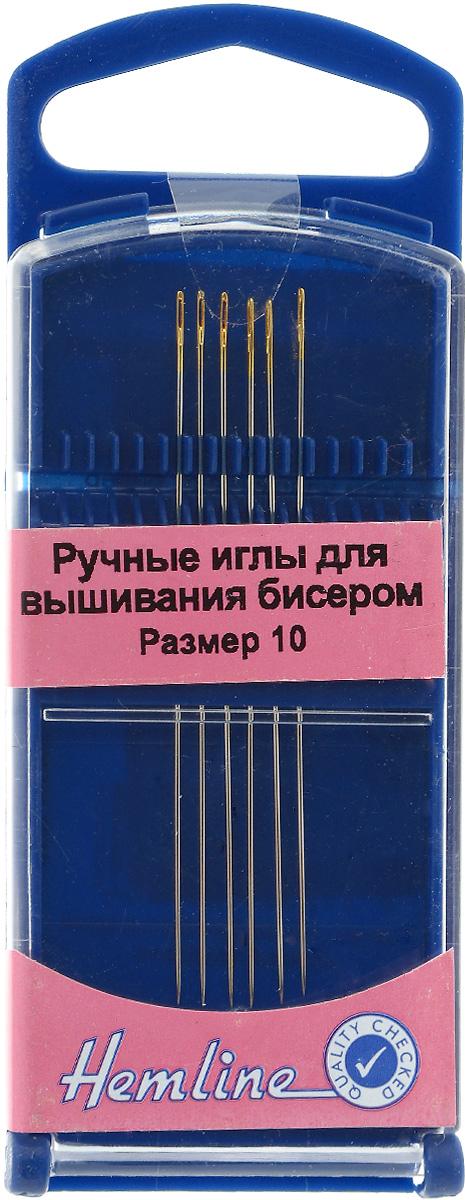 Иглы ручные Hemline, для вышивания бисером, №10, 6 шт. 289G.10289G.10Иглы ручные Hemline это удлиненные иглы с узким ушком, которые идеально подходят для декоративных работ с бисером. Размер: №10. Размер иглы: 5,5 см.