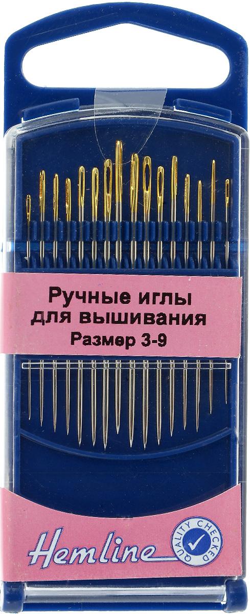 Иглы ручные для вышивания Hemline, с закругленным кончиком, №3-9, 16 шт280G.39Ручные иглы для вышивания Hemline выполнены из высококачественной стали. Острый кончик игл идеален для вышивания мелких деталей. Имеют удлиненное ушко для более легкого продевания нити. Размер: 3-9. Средняя длина игл: 4 см.