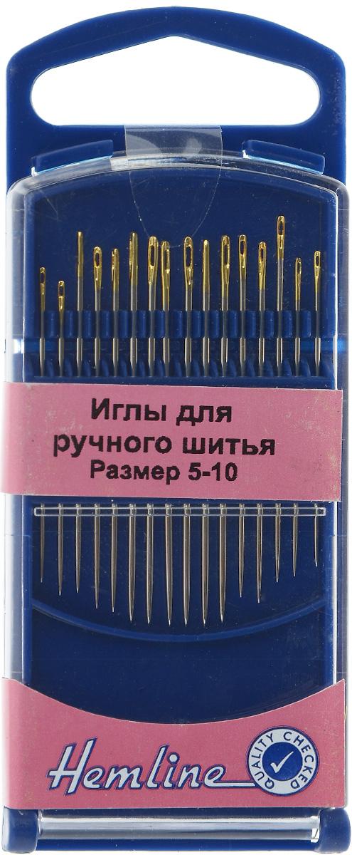 Иглы ручные Hemline, с острым кончиком, №5-10, 16 шт. 288G.510288G.510Ручные иглы для ручного шитья Hemline выполнены из высококачественной стали. Острый кончик игл идеален для вышивания мелких деталей. Имеют удлиненное ушко для более легкого продевания нити. Размер: №5-10. Средняя длина игл: 4,1 см.