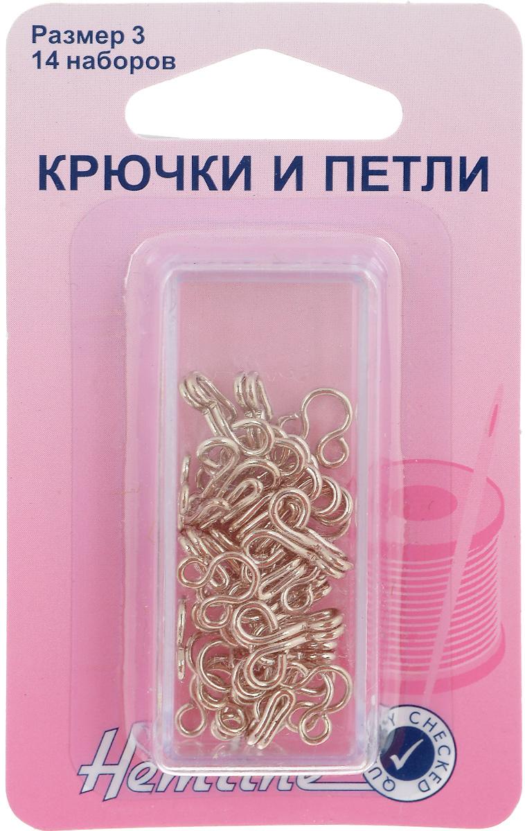 Крючки и петли Hemline, цвет: никель, размер 3, 14 пар400.3Крючки и петли Hemline выполнены из прочного металла. Пришивные, используются для верхней одежды. В комплекте - 14 пар крючков и петель. Изделия упакованы в специальный пластиковый контейнер многоразового использования.