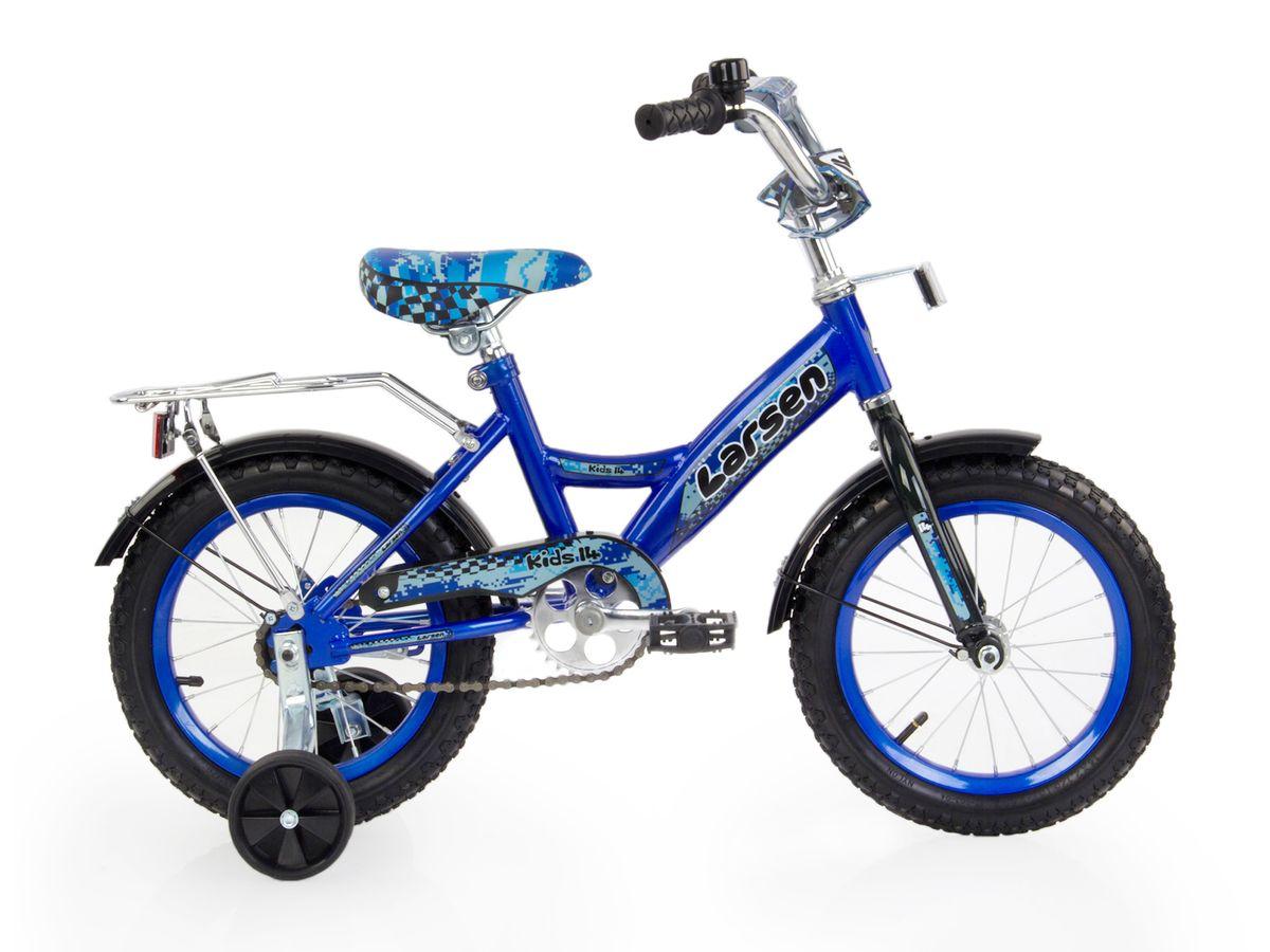 """Велосипед детский Larsen """"Kids 14"""""""", цвет: синий 336210"""