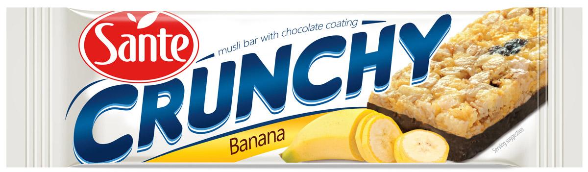 Sante Crunchy батончик мюсли с бананом в шоколаде, 40 г