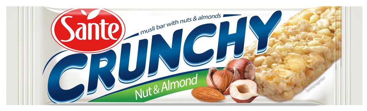Sante Crunchy батончик мюсли с орехами, 35 г 5900617015945