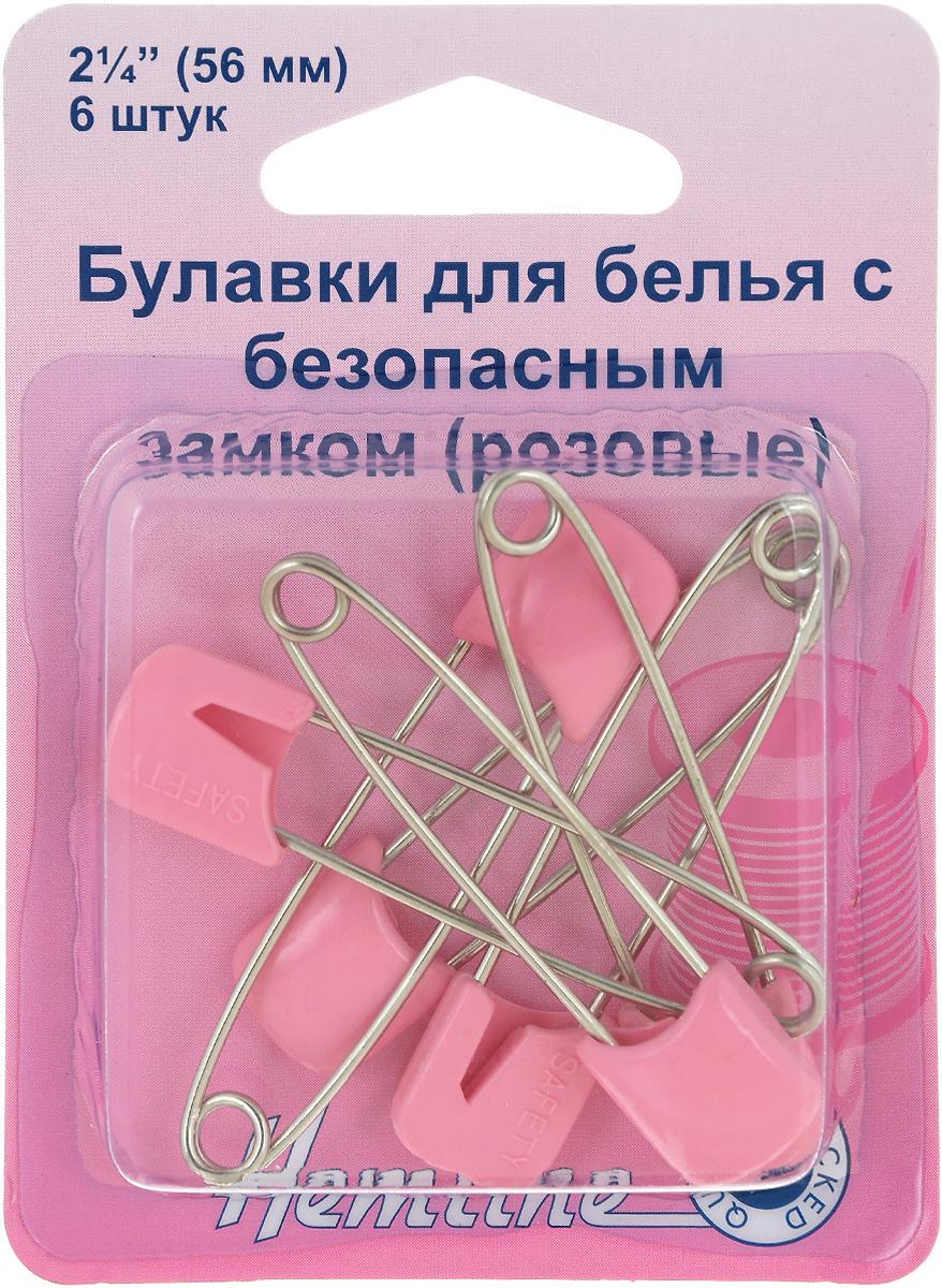Булавки бельевые Hemline, цвет: розовый, длина 56 мм, 6 шт413.PБулавки Hemline используются для закрепления краев пододеяльника, наволочки и другого белья. Выполнены из высококачественного металла с головкой из пластика. Ограничитель препятствует случайному открытию. В комплект входит 6 булавок. Длина булавки: 5,6 см.