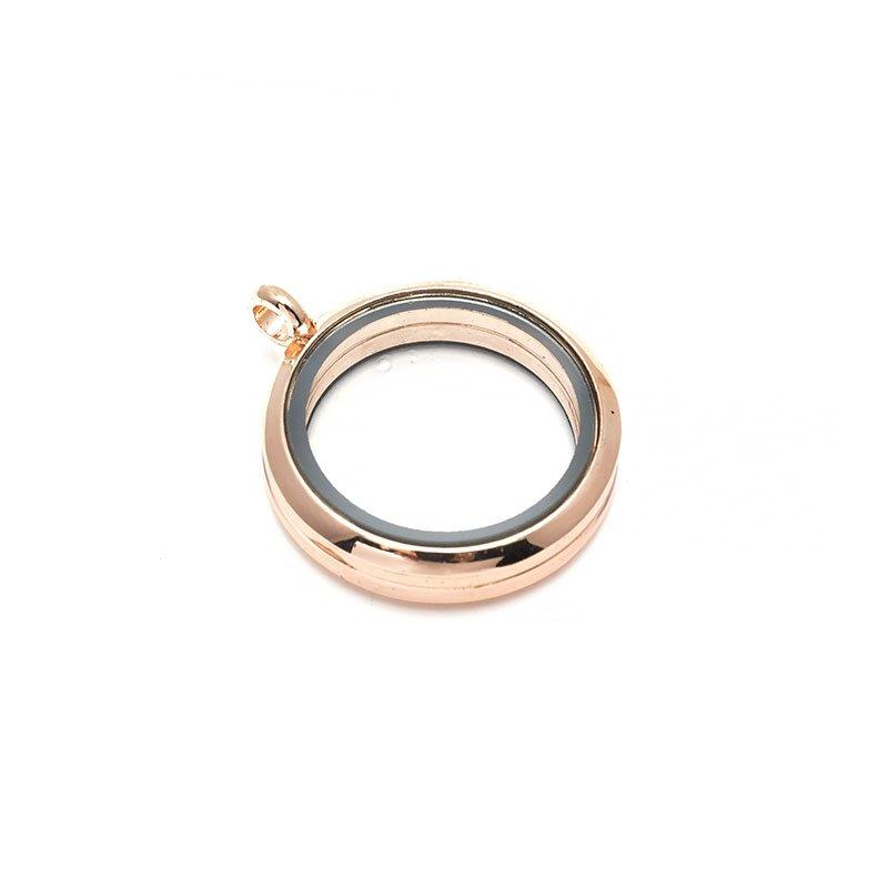 Бусина-подвеска (локет) стеклянные Tesоro, 30 мм, цвет: красное золото. TS.8542-1LGTS.8542-1LG