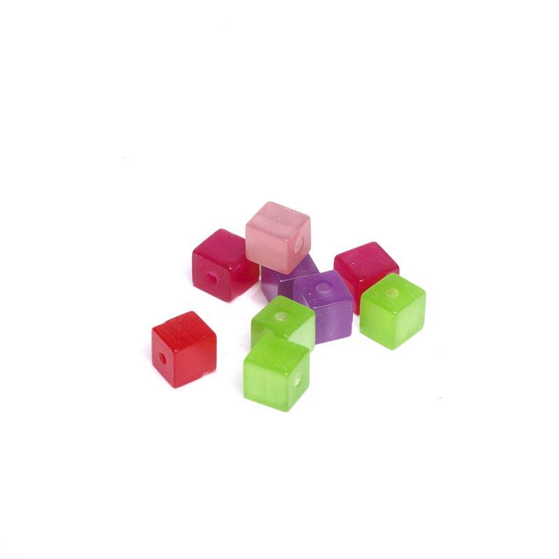 Бусины акриловые Magic Hobby, 8x8мм, 10 шт. E8506.03БУС.E8506.03