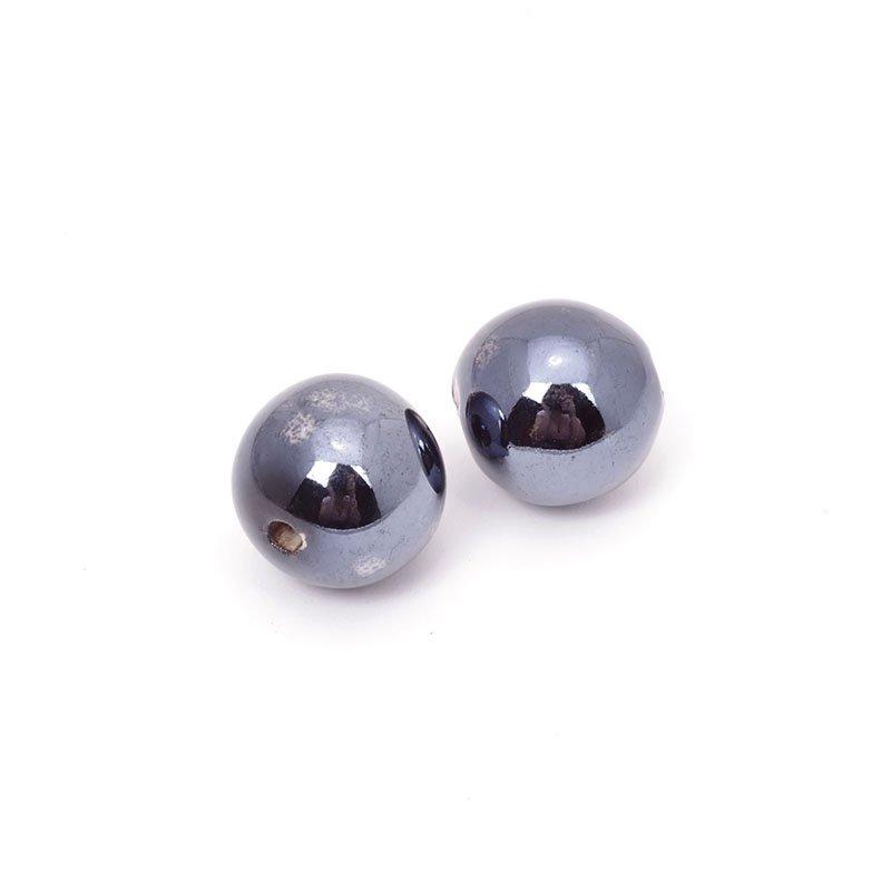 Бусины керамические Tesоro, 18 мм, цвет: черный. TS.018БУС.КЕРАМ.TS.018.ЧЕР