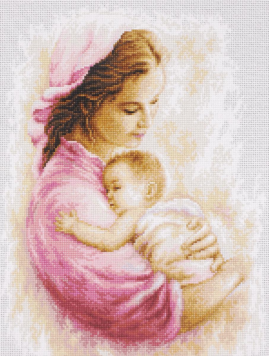 Набор для вышивания крестом Luca-S Мать и дитя, 21 х 27 смB536Набор для вышивания крестом Luca-S Мать и дитя поможет создать красивую вышитую картину. Рисунок-вышивка, выполненный на канве, выглядит стильно и модно. Вышивание отвлечет вас от повседневных забот и превратится в увлекательное занятие! Работа, сделанная своими руками, не только украсит интерьер дома, придав ему уют и оригинальность, но и будет отличным подарком для друзей и близких! Набор содержит все необходимые материалы для вышивки на канве в технике счетный крест. В набор входит: - канва Aida Zweigart №18 (белого цвета), - мулине Anchor - 100% мерсеризованный хлопок (32 цвета), - черно-белая символьная схема, - инструкция на русском языке, - игла. Размер готовой работы: 21 х 27 см. Размер канвы: 40 х 34 см.