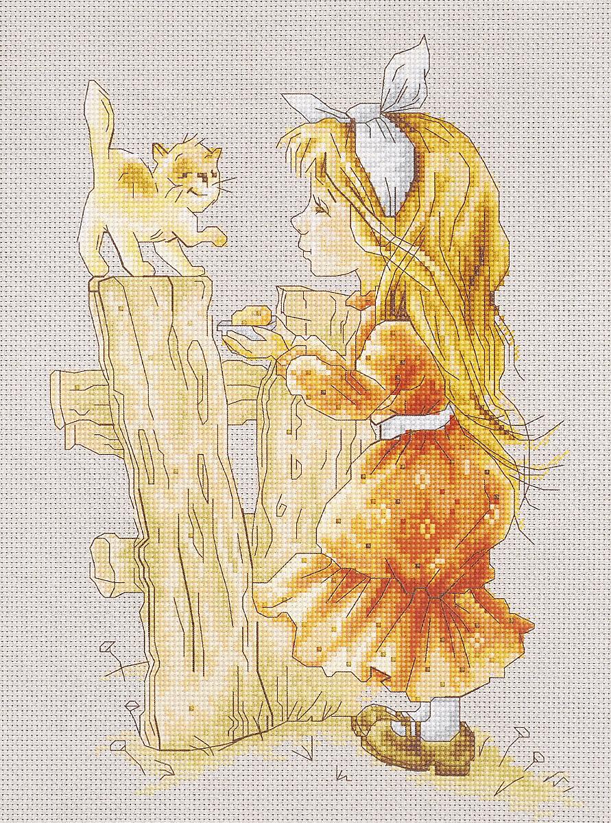 Набор для вышивания крестом Luca-S С котенком, 17 х 25 смB1106Набор для вышивания крестом Luca-S С котенком поможет создать красивую вышитую картину. Рисунок-вышивка, выполненный на канве, выглядит стильно и модно. Вышивание отвлечет вас от повседневных забот и превратится в увлекательное занятие! Работа, сделанная своими руками, не только украсит интерьер дома, придав ему уют и оригинальность, но и будет отличным подарком для друзей и близких! Набор содержит все необходимые материалы для вышивки на канве в технике счетный крест. В набор входит: - канва Aida Zweigart №16 (серо-бежевого цвета), - мулине Anchor - 100% мерсеризованный хлопок (24 цвета), - черно-белая символьная схема, - инструкция на русском языке, - игла. Размер готовой работы: 17 х 25 см. Размер канвы: 36,3 х 30,7 см.