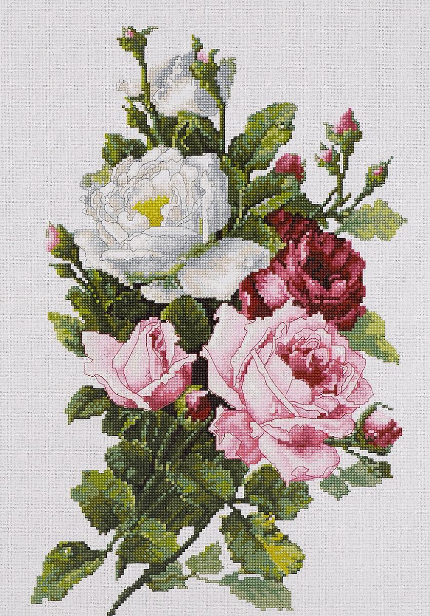 Набор для вышивания крестом Luca-S Букет из роз, 13,5 х 21,5 смB2285Набор для вышивания крестом Luca-S Букет из роз поможет создать красивую вышитую картину. Рисунок-вышивка, выполненный на канве, выглядит стильно и модно. Вышивание отвлечет вас от повседневных забот и превратится в увлекательное занятие! Работа, сделанная своими руками, не только украсит интерьер дома, придав ему уют и оригинальность, но и будет отличным подарком для друзей и близких! Набор содержит все необходимые материалы для вышивки на канве в технике счетный крест. В набор входит: - канва Aida Lugana 25 ct / 100 Zweigart (белого цвета), - мулине Anchor - 100% мерсеризованный хлопок (33 цвета), - черно-белая символьная схема, - инструкция на русском языке, - игла. Размер готовой работы: 13,5 х 21,5 см. Размер канвы: 35,5 х 26 см.