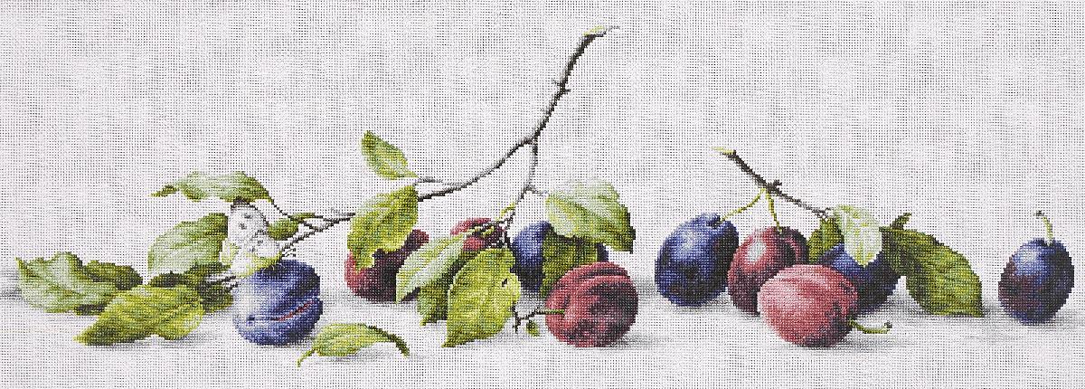 Набор для вышивания крестом Luca-S Сливы, 57,5 х 18 смB2257Набор для вышивания крестом Luca-S Сливы поможет создать красивую вышитую картину. Рисунок-вышивка, выполненный на канве, выглядит стильно и модно. Вышивание отвлечет вас от повседневных забот и превратится в увлекательное занятие! Работа, сделанная своими руками, не только украсит интерьер дома, придав ему уют и оригинальность, но и будет отличным подарком для друзей и близких! Набор содержит все необходимые материалы для вышивки на канве в технике счетный крест. В набор входит: - канва Aida 18 Zweigart (белого цвета), - мулине Anchor - 100% мерсеризованный хлопок (36 цветов), - черно-белая символьная схема, - инструкция на русском языке, - игла. Размер готовой работы: 57,5 х 18 см. Размер канвы: 68 х 30 см. Художник: Елена Базанова.
