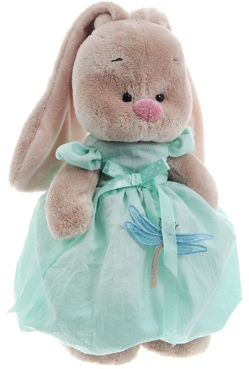 Мягкая игрушка Зайка Ми в мятном платье со стрекозой 25 смStS-170Нарядное платье цвета мяты с рукавами-крылышками и пышной юбкой. Спереди пришит бантик из атласной ленточки в горошек. Украшением служит стрекоза с кружевными крылышками. Платье застегивается сзади на две пуговки.
