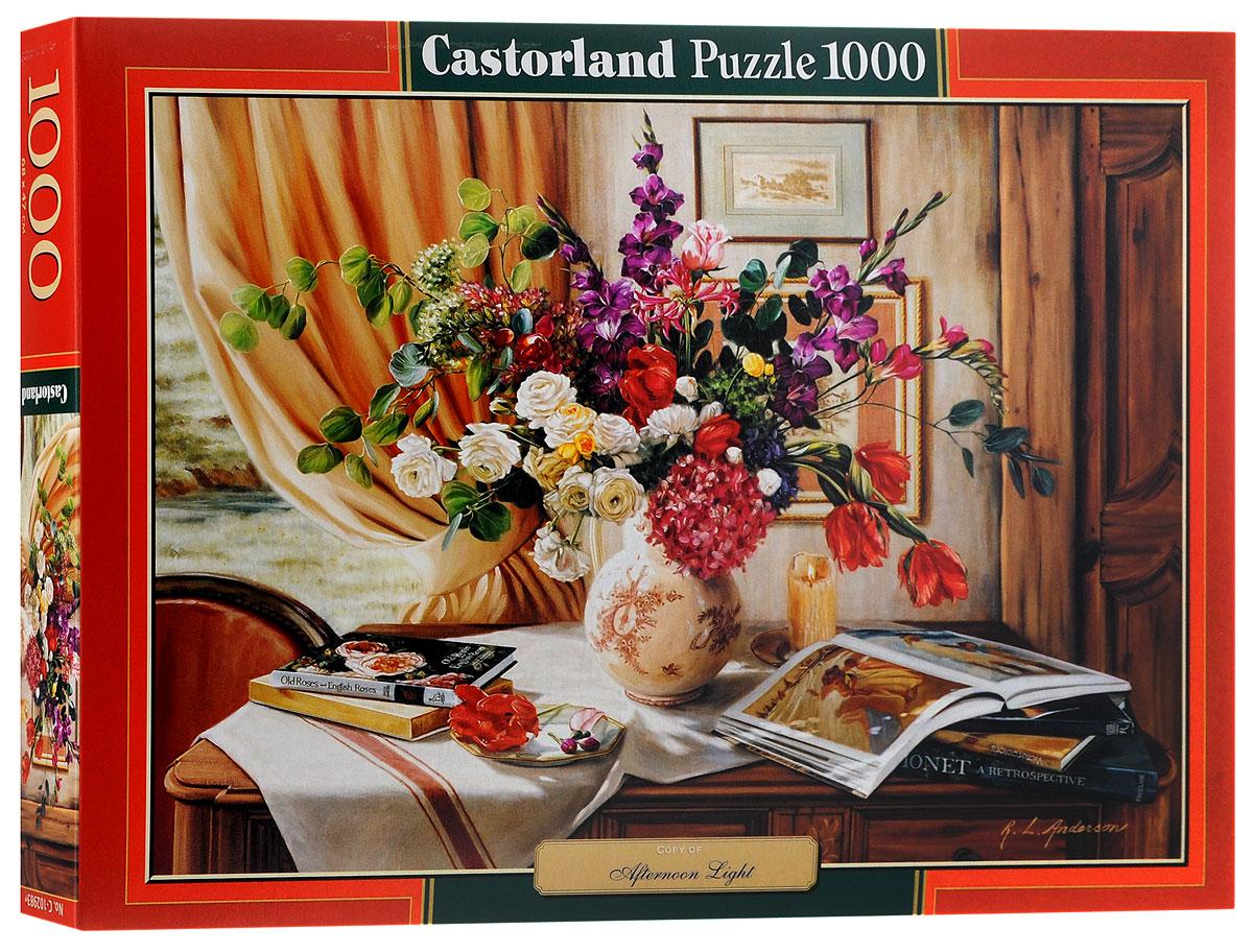 Castorland Пазл Дневной светC-102983Пазл Castorland Дневной свет придется по душе всей вашей семье. Собрав этот пазл, включающий в себя 1000 элементов, вы получите великолепную картину с букетом пышных цветов вазе. Пазл изготовлен из картона высочайшего качества. Все изображения аккуратно отсканированы и напечатаны на ламинированной бумаге. Пазл - великолепная игра для семейного досуга. Сегодня собирание пазлов стало особенно популярным, главным образом, благодаря своей многообразной тематике, способной удовлетворить самый взыскательный вкус. А для детей это не только интересно, но и полезно. Собирание пазла развивает мелкую моторику у ребенка, тренирует наблюдательность, логическое мышление, знакомит с окружающим миром, с цветом и разнообразными формами.