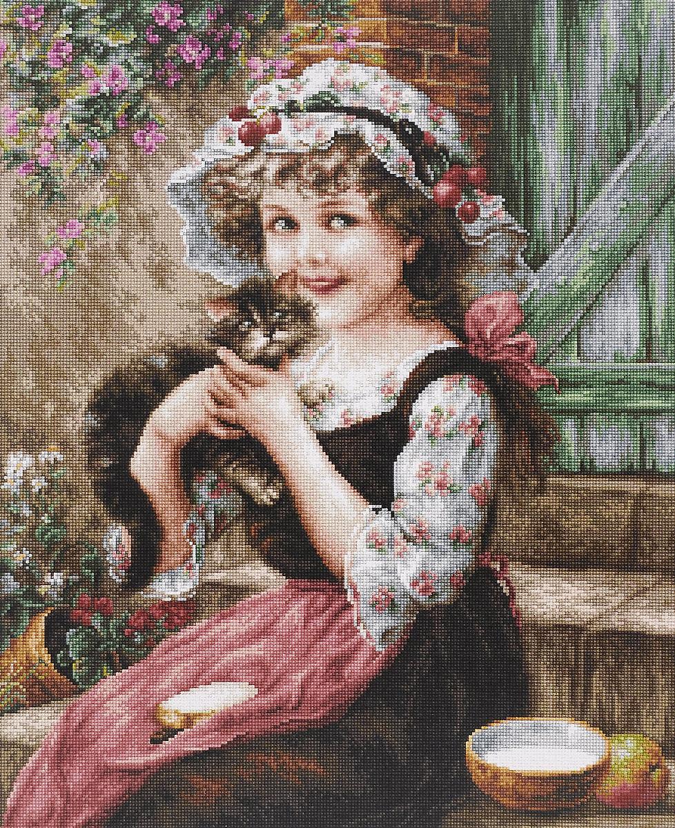 Набор для вышивания крестом Luca-S Маленький котенок, 35 х 43 смB538Набор для вышивания крестом Luca-S Маленький котенок поможет создать красивую вышитую картину. Рисунок-вышивка, выполненный на канве, выглядит стильно и модно. Вышивание отвлечет вас от повседневных забот и превратится в увлекательное занятие! Работа, сделанная своими руками, не только украсит интерьер дома, придав ему уют и оригинальность, но и будет отличным подарком для друзей и близких! Набор содержит все необходимые материалы для вышивки на канве в технике счетный крест. В набор входит: - канва Aida Zweigart №16 (бежевого цвета), - мулине Anchor - 100% мерсеризованный хлопок (50 цветов), - черно-белая символьная схема, - инструкция на русском языке, - игла. Размер готовой работы: 35 х 43 см. Размер канвы: 50 х 56,5 см.