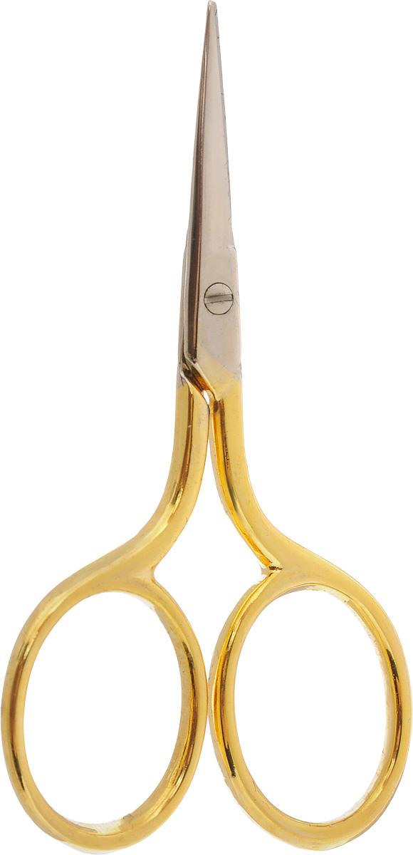 Ножницы для вышивания Hemline, длина 7 смB5422Ножницы для вышивания Hemline выполнены из высококачественной нержавеющей стали с позолоченным покрытием. Вышивальщице обязательно нужны ножницы, причем не одни. Ножницы должны быть маленькие и с острыми кончиками. Аккуратные и элегантные ножницы предназначены для вышивания и рукоделия, идеально подходят для обрезания нитей. Длина ножниц: 7 см. Длина лезвий: 2 см.