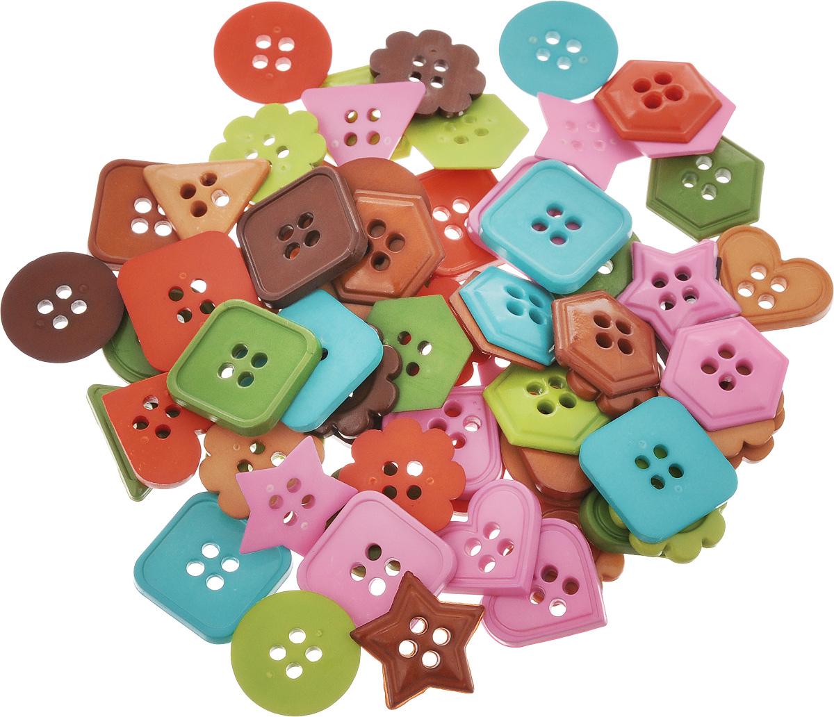 Пуговицы декоративные Magic Buttons Геометрия. Ассорти, 30 г7715034_АссортиЯркие и красочные пуговицы Magic Buttons Геометрия. Ассорти, выполненные из пластика, станут прекрасным дополнением к любому образу. Яркие пуговицы восхищают разнообразием стилей и цветов. Они отлично подойдут для декора одежды, кроме того, их можно использовать в скрапбуинге, создавать с их помощью интересные открытки и подарки. Диаметр круглых пуговиц: 1,7 см.