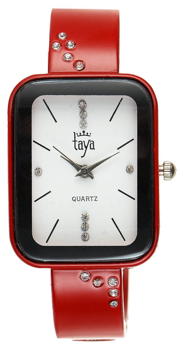 Часы наручные женские Taya, цвет: красный. T-W-0459T-W-0459-WATCH-REDСтильные женские часы Taya выполнены из минерального стекла и нержавеющей стали. Браслет и циферблат часов инкрустированы стразами, циферблат дополнен символикой бренда. Корпус часов оснащен кварцевым механизмом со сменным элементом питания, а также дополнен раздвижным браслетом с пружинным механизмом. Часы поставляются в фирменной упаковке. Часы Taya подчеркнут изящность женской руки и отменное чувство стиля у их обладательницы.